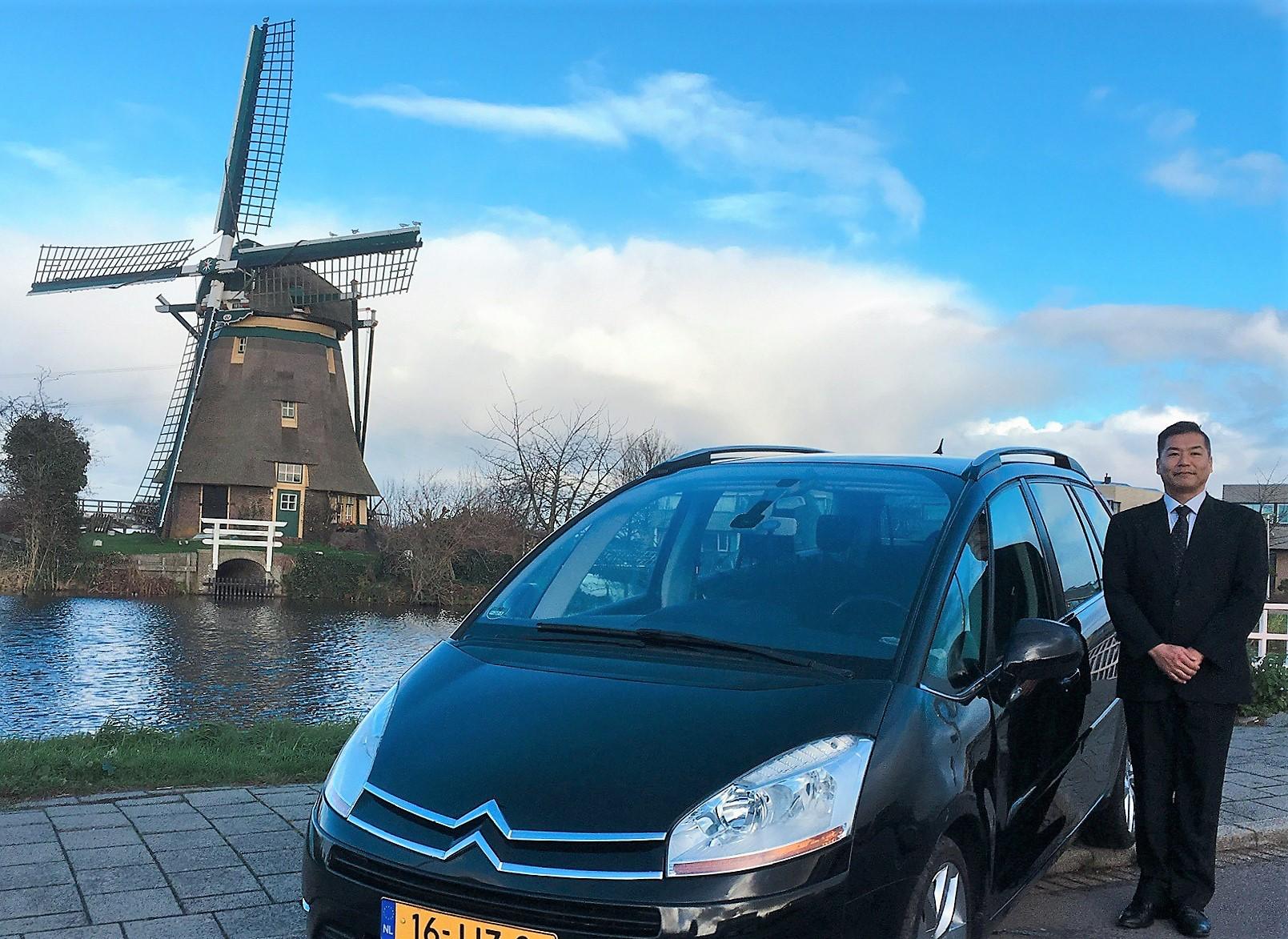 ラグジュアリー車 と 風車