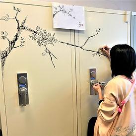 Inkt schilderij Sakura