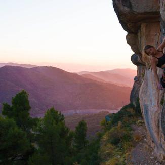 Climbing in Siurana, Spain