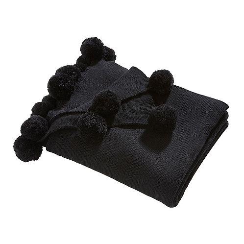 Pom Pom Throw - Black