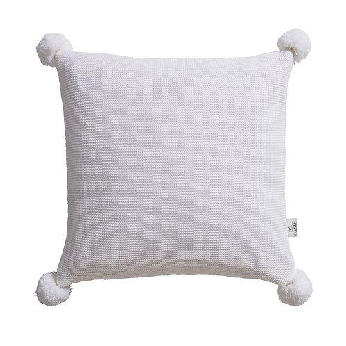 Pom Pom Cushion - Ivory