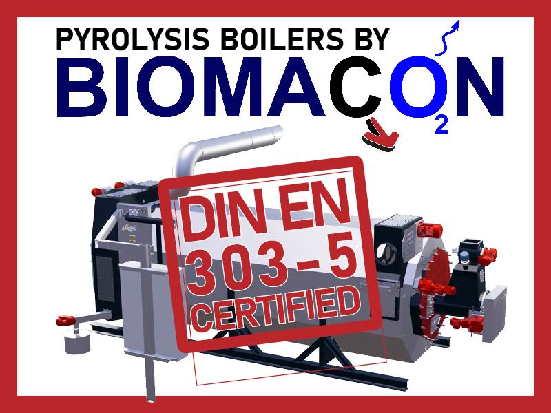 First pyrolysis boiler C400-I got DIN EN 303-5 certified!