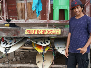 Danny, the first surfboard repair specialist of west sumbawa