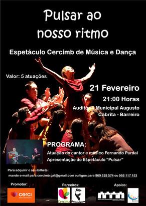 """Espetáculo Cercimb """"Pulsar ao nosso ritmo"""" - AMAC 21h - 21 Fevereiro 2020"""
