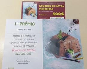 1º Prémio Cercimb - Concurso Árvores de Natal Ecológicas - Dezembro 2019