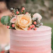 Hochzeitstorte Flower Rosé