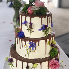 Hochzeitstorte Wiesenblumen