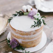 Hochzeitstorte Naked Cake Efeu