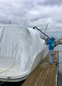 boat shrink wrapping baltimore