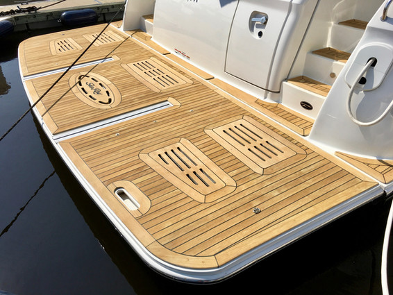 boat teak cleaning