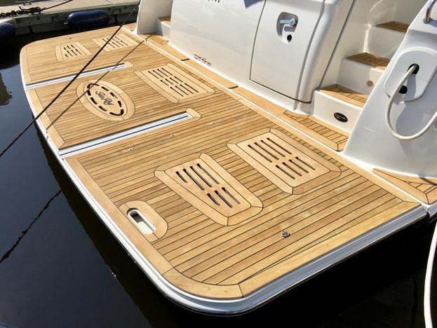 boat teak cleaning