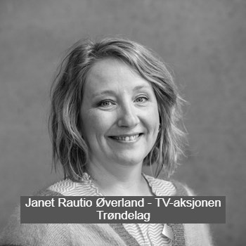 Janet Rautio Øverland fra TV-aksjonen i Trøndelag