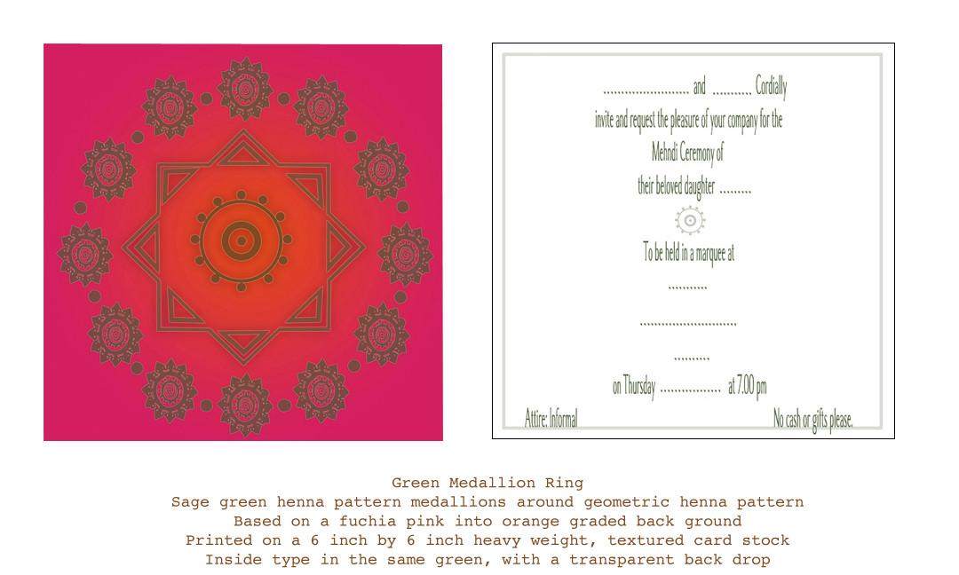 Mendi (Henna party) invitation