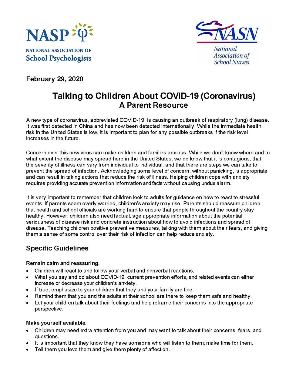 How to Talk to Kids About Coronavirus_Pa