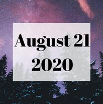 August 21 2020 Newsletter