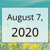 August 7, 2020 Newsletter