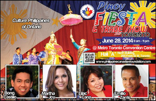 PINOY FIESTA TO FEATURE THE BEST OF THE BEST IN TORONTO ON JUNE 28