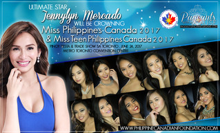 ANNOUNCEMENT: JENNYLYN MERCADO TO CROWN MISS PHILIPPINES CANADA 2017