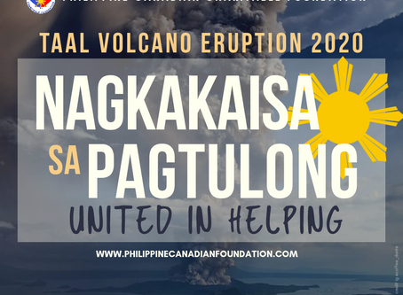 CALL FOR DONATIONS: TAAL VOLCANO ERUPTION