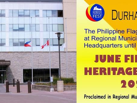 Philippine flag @ Municipality of Durham HQ