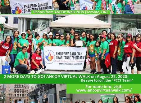 "2 MORE DAYS TO GO! Be sure to join the ""PCCF Team"""