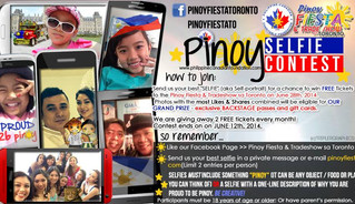 Win FREE Tickets to Pinoy Fiesta & Tradeshow sa Toronto 2014! Join our Selfie Contest!
