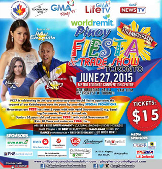 SPECIAL PROMOTION for the Pinoy Fiesta & Tradeshow sa Toronto 2015