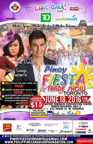 Less than 2 weeks to go! RAIN OR SHINE, NOT TOO HOT OR NOT TOO COLD AT PINOY FIESTA