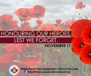 Honouring our Heroes on Remembrance Day. Lest We Forget.