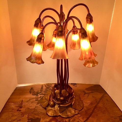 Tiffany Ten Light Lily Lamp
