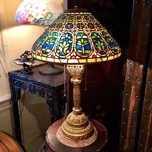 A Tiffany Venetian lamp