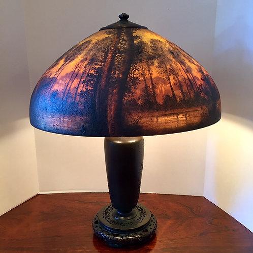 Handel Scenic Painted Lamp