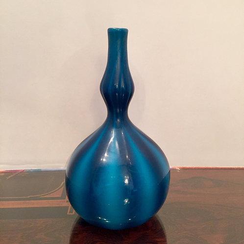 Tiffany Studios Blue Double Gourd Favrile Glass Vase