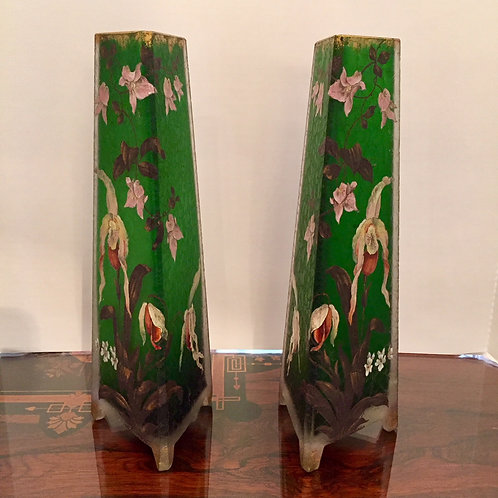 Daum Nancy Pair of Vases