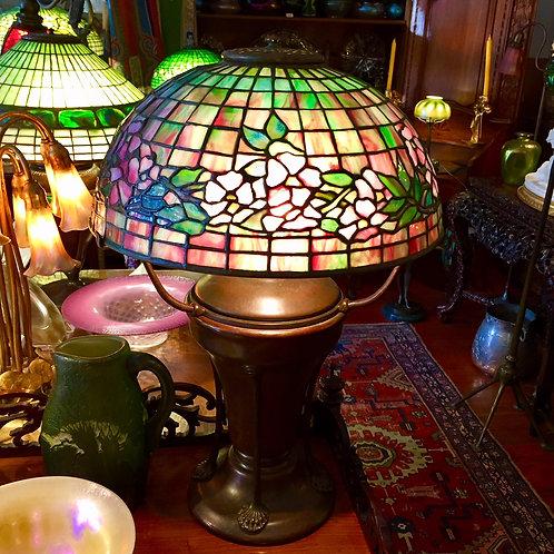 "14"" Tiffany Studios Dogwood lamp"