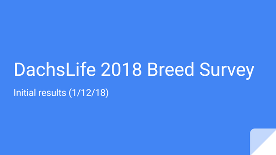 DachsLife 2018 - Breed Survey initial results