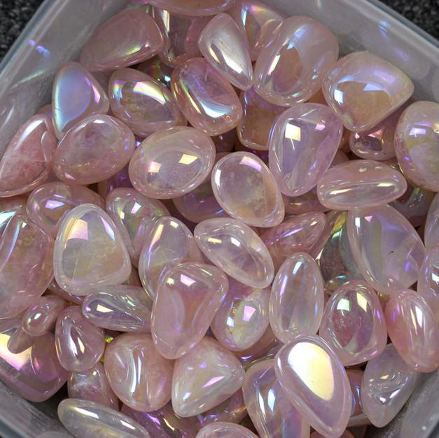 Rose Quartz Aura Tumble Stones