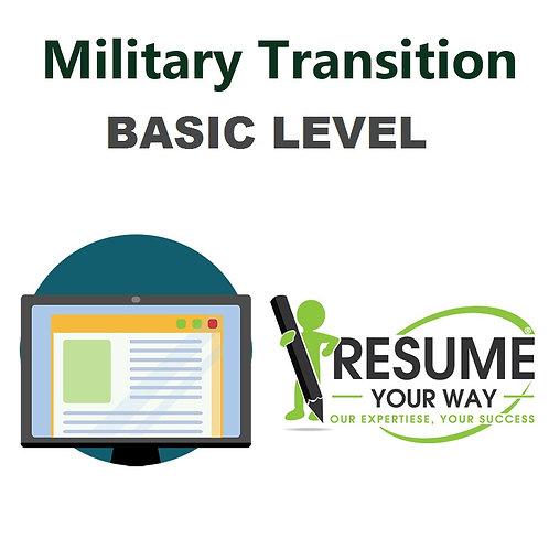 Military Transition -Basic-Level