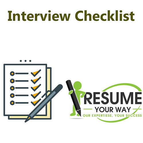 Personalized Interview Preparation Checklist
