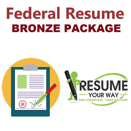 Federal Resume: Bronze Package