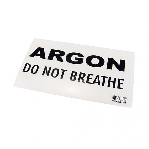 ARGON: DO NOT BREATHE warning decal