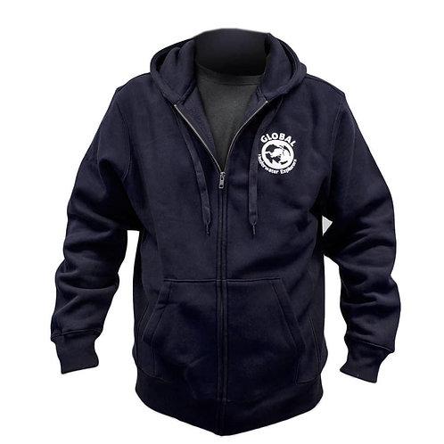 GUE Zipper Hoodie blue