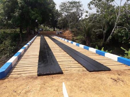 Além de garantir a reabertura de ramais nos últimos 05 anos, prefeito Mazinho fez várias pontes