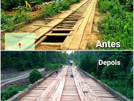 Prefeitura conclui reforma da ponte do Ramal da Gleba São Jorge
