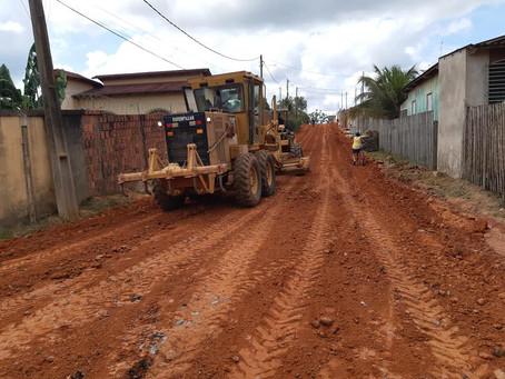 Prefeitura realiza trabalho de revitalização na Rua João Toinha, Bairro Jardim Primavera