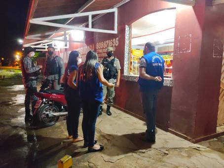 Vigilância Sanitária Municipal e PM realizam ação para fazer valer o decreto estadual anti-covid