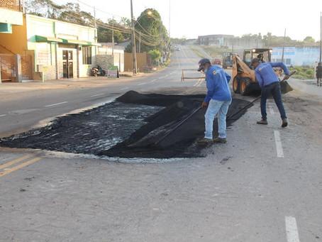 Prefeitura inicia Operação Tapa Buracos na Avenida Brasil