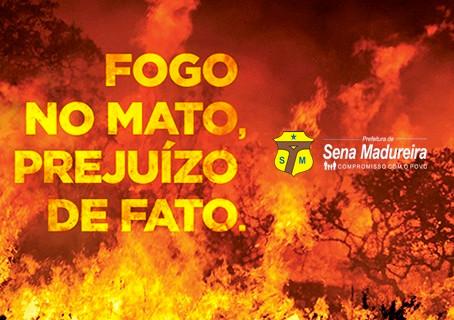 Prefeitura de Sena Madureira inicia campanha contra queimadas urbanas ambientais