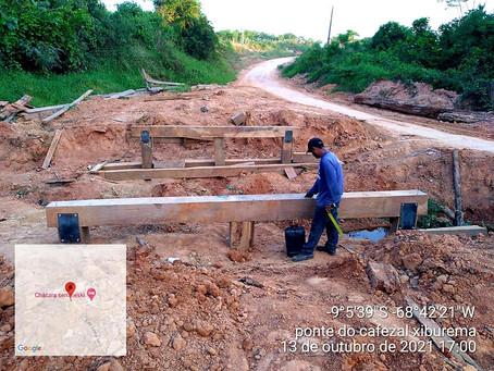 Prefeitura avança com trabalho de construção da nova ponte do Ramal Xiburema