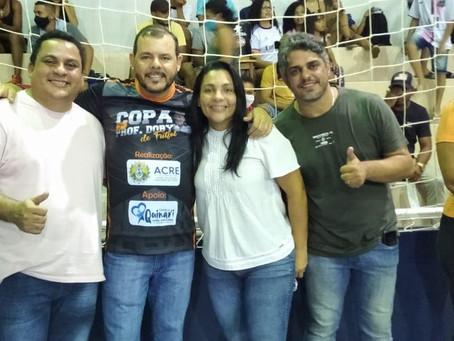 Gilberto Lira prestigia reinauguração de Ginásio Poliesportivo em Senador Guiomard